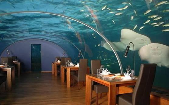Marmaris keçi adasına cam restaurant