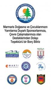 marmaris çevrecileri derneği sponsorlarına teşekkürler