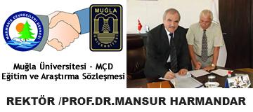 Muğla Üniversitesi ve Marmaris Çevrecileri derneği Eğitim ve Araştırma Sözleşmesi