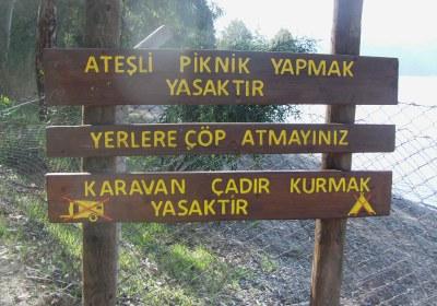 Aktaş milli parkı Marmaris Muğla