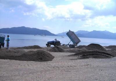 marmaris sahile yayilan kumlar 4